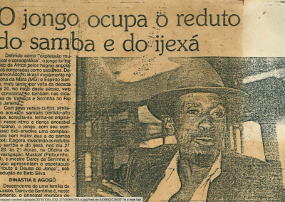 """Jongo ocupa o reduto do samba de so ijexá"""